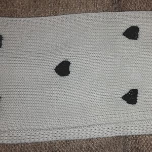Betsey Johnson infinity scarf with hearts